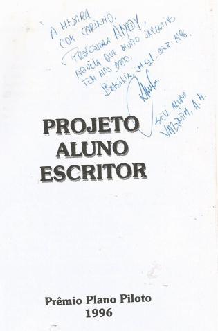 PROJETO aluno escritor - dedicatória
