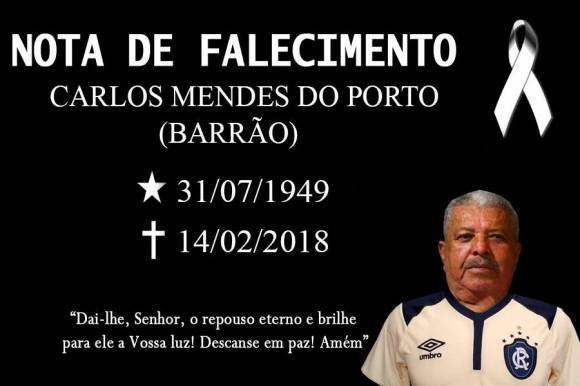 BARRÃO nota de falecimento