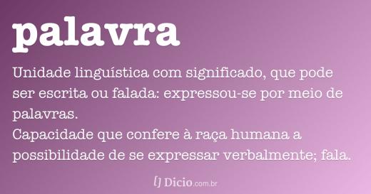 PALAVRA definição