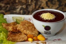 AÇAÍ com peixe frito